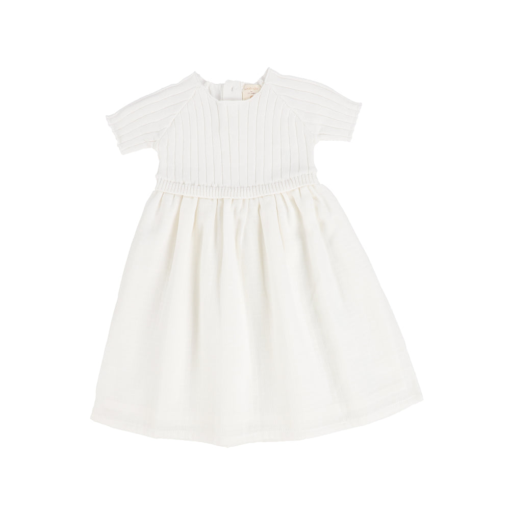 Analogie by Lil Legs Short Sleeve Knit Dress - White