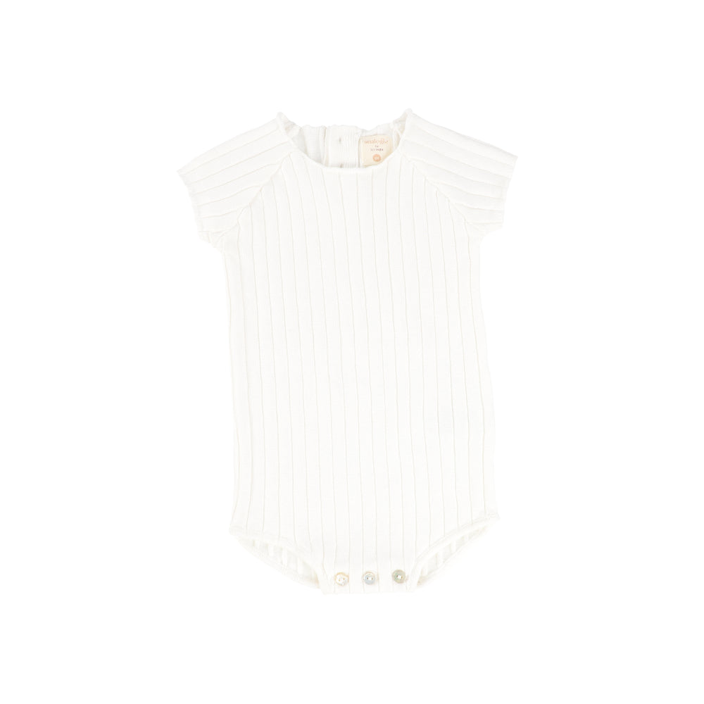 Analogie by Lil Legs Knit Romper - White