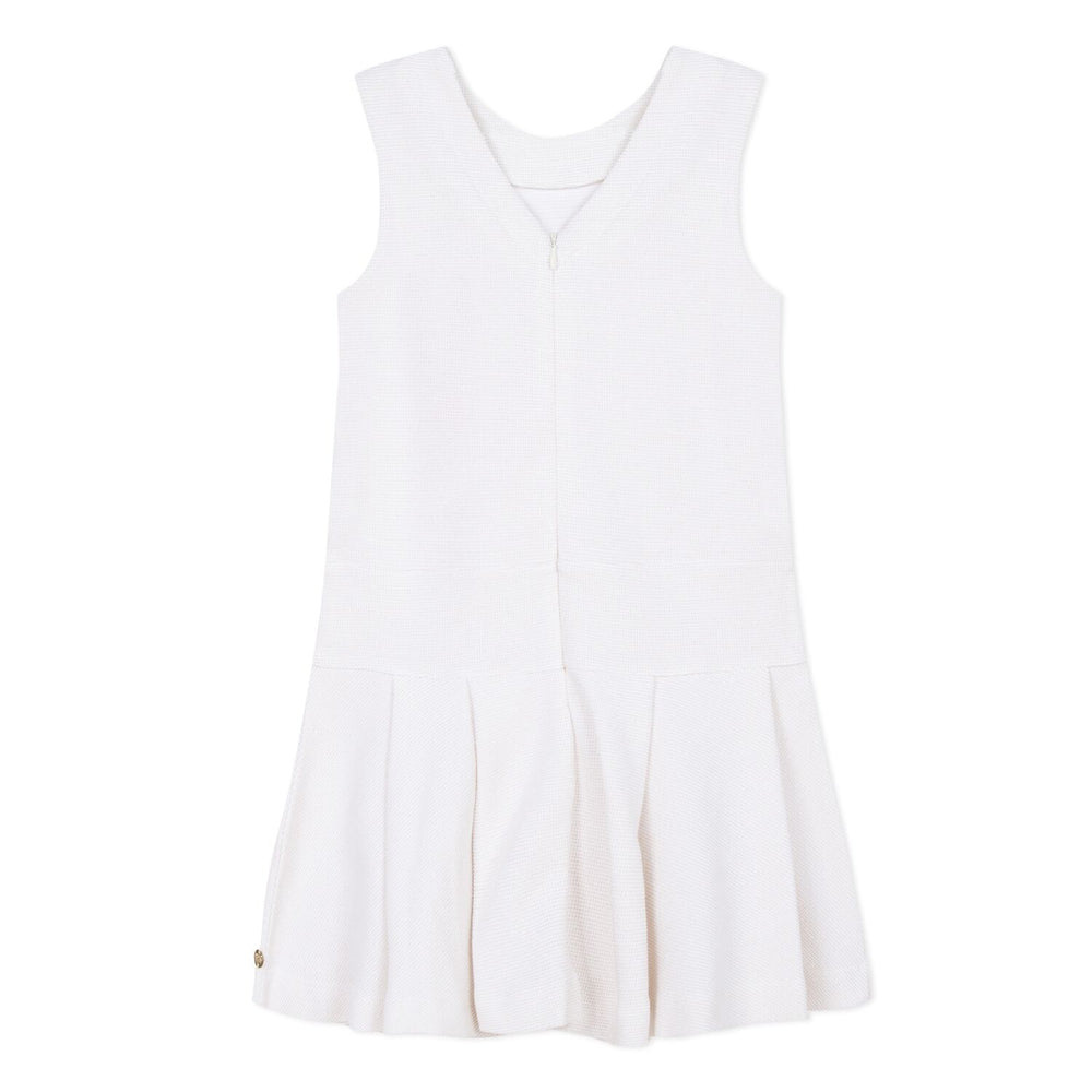 Lili Gaufrette White Jumper Dress