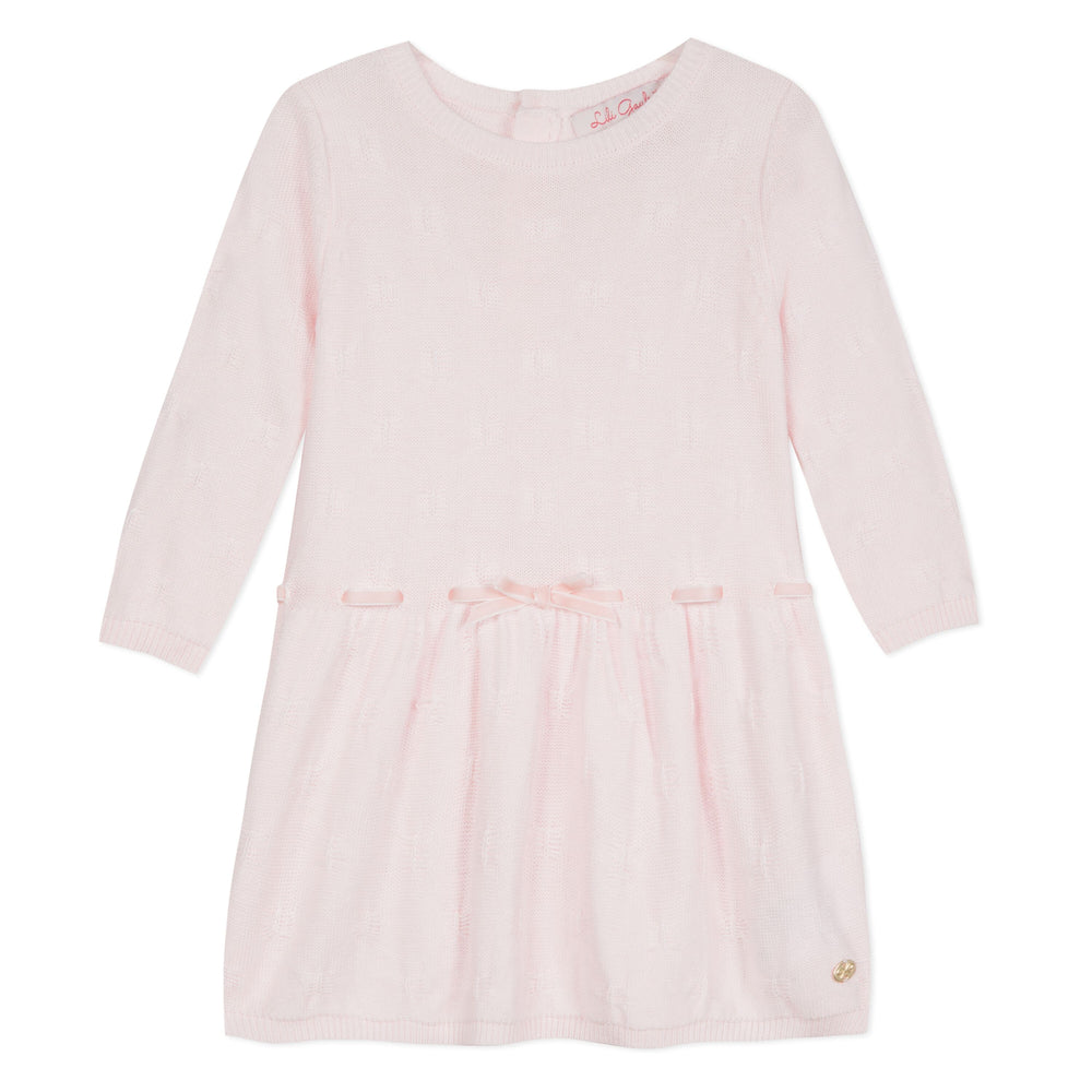 Lili Gaufrette Lauraline Pink Toddler Dress
