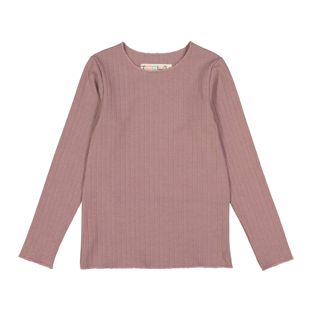 Teela Girls Ribbed Top - Mauve