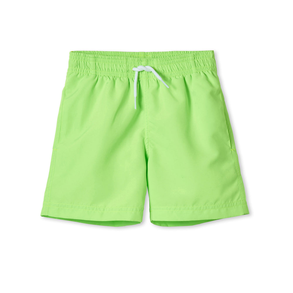 Stella Cove Neon Green Boys Swim Trunks