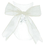 Net Charm Bow Anklet Socks - White