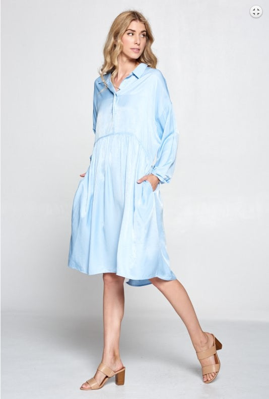 Babydoll Dress - Blue