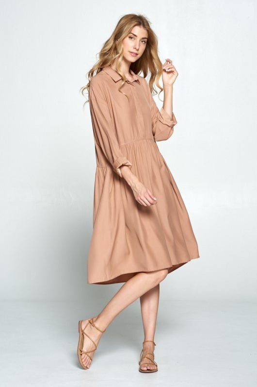 Babydoll Dress - Mauve