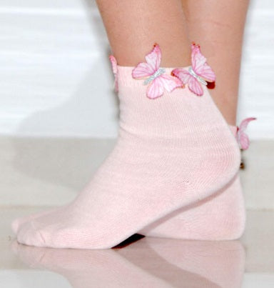 Blinq Butterfly Ankle Socks - Pink