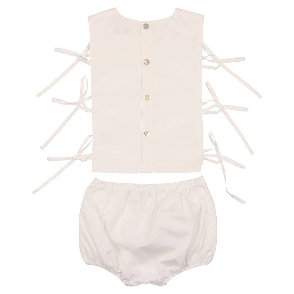 Coco Blanc Baby Bow Set - White
