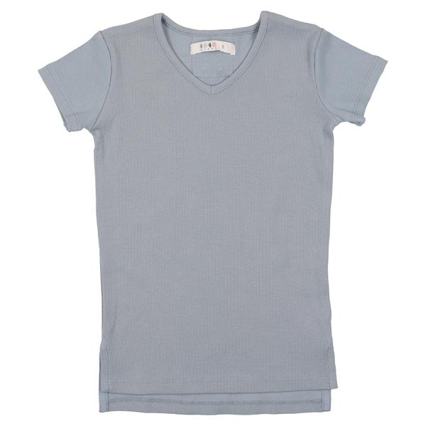 Coco Blanc V-neck Tee - Ice Blue