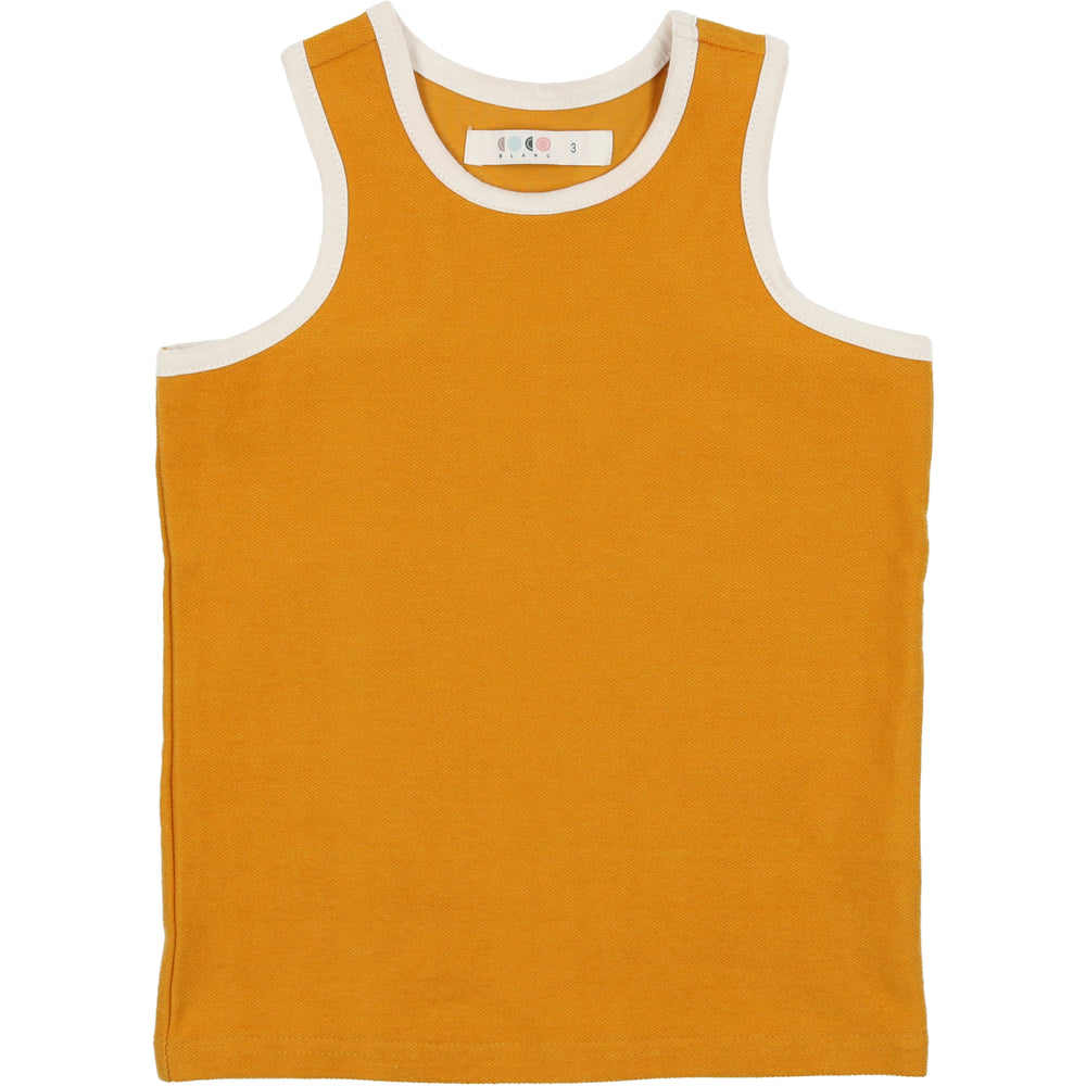 Coco Blanc French Terry Tank - Spicy Mustard
