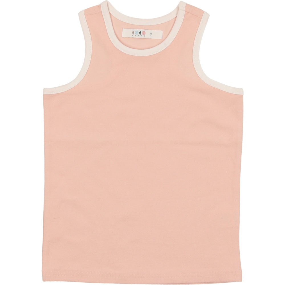 Coco Blanc French Terry Tank - Smokey Rose