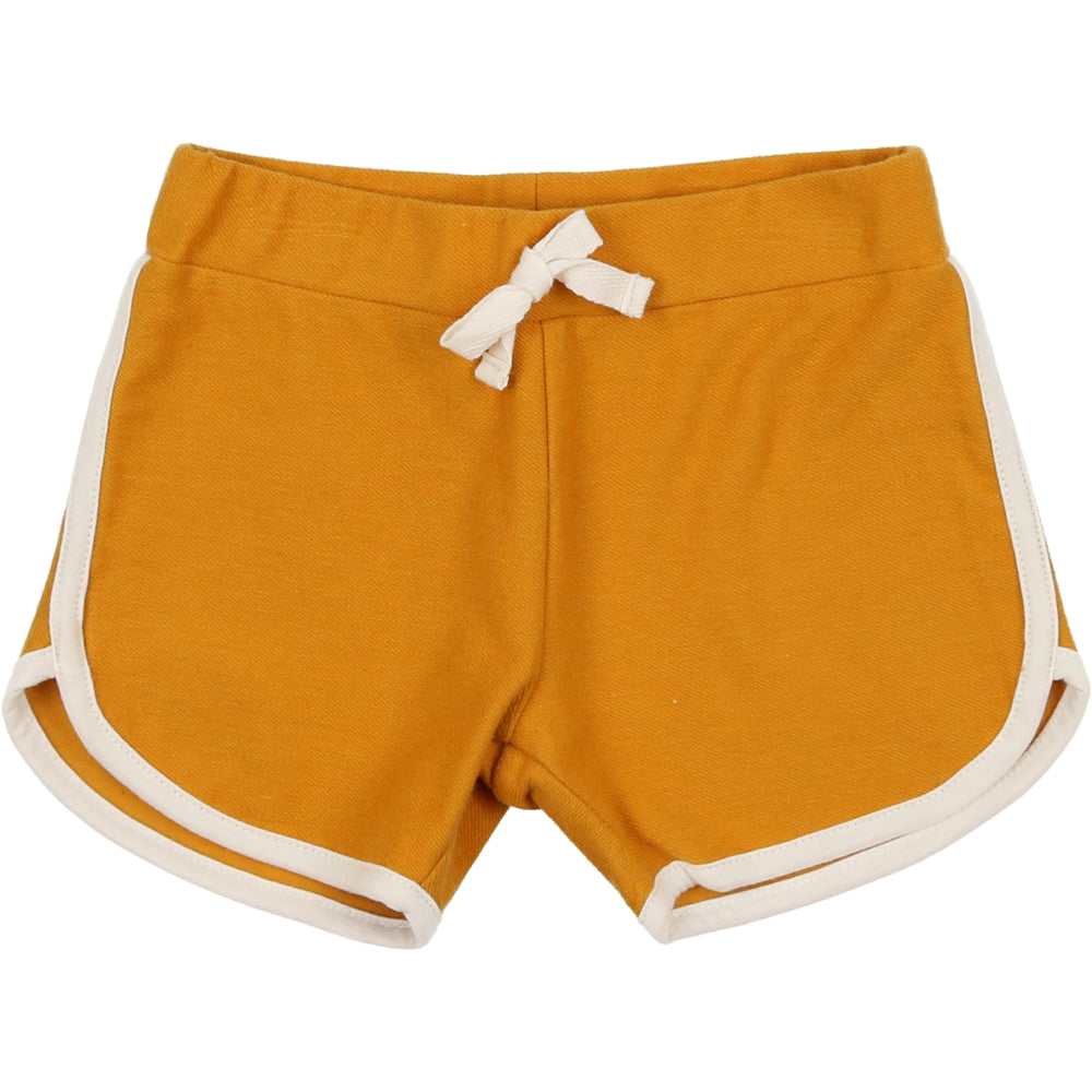 Coco Blanc French Terry Biker Shorts - Spicy Mustard