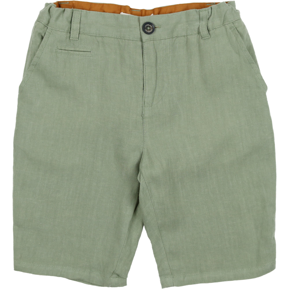 Coco Blanc Linen Shorts - Sage Green