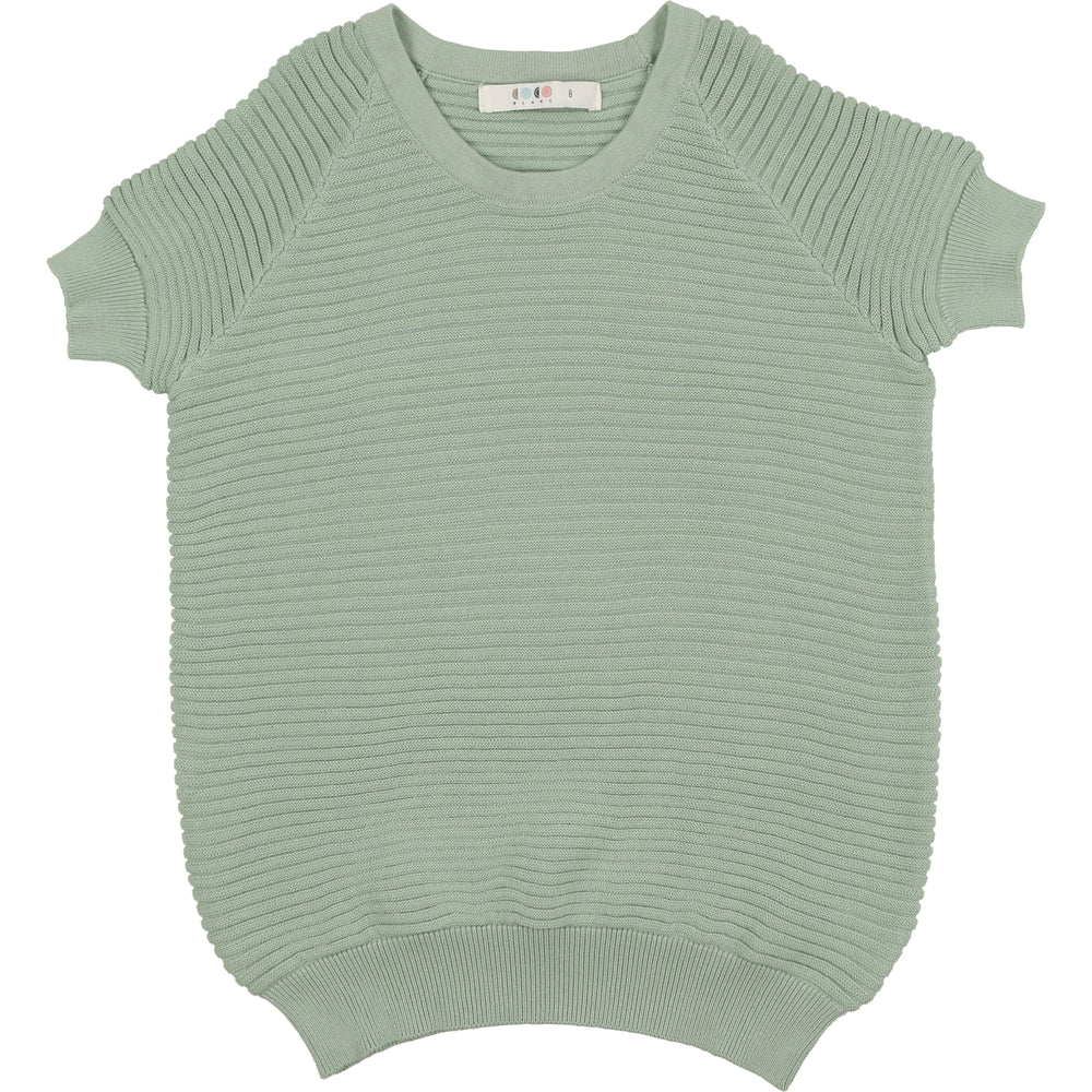Coco Blanc Horizontal Ribbed Sweater - Sage Green