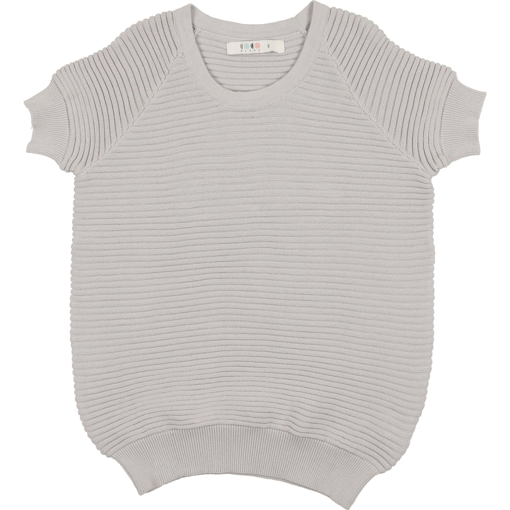 Coco Blanc Horizontal Ribbed Sweater - Pale Blue
