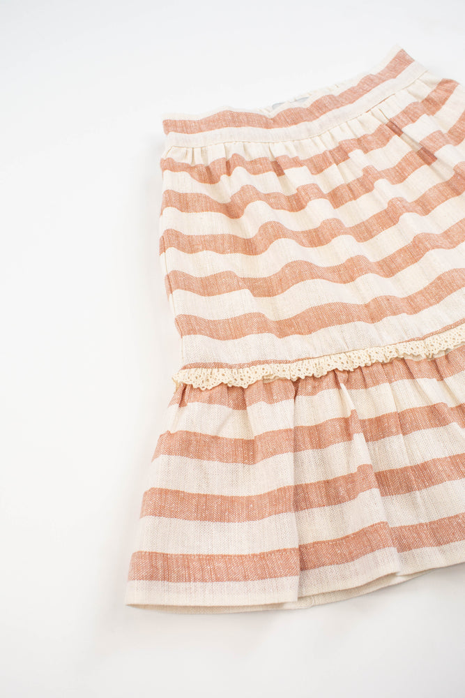 Kokori Elise Skirt - Salmon Stripes