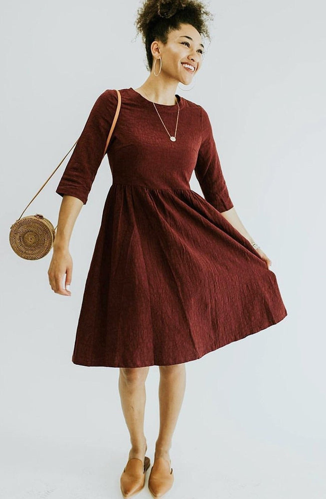 Nicole Dress - Burgundy