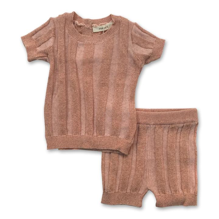 Fragile Ribbed Shimmer Baby Set