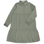 Coco Blanc Tiered Dress - Sage Blue