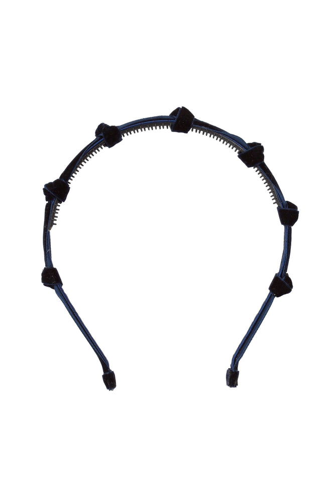 Project 6 Rosebud Headband - Navy Velvet