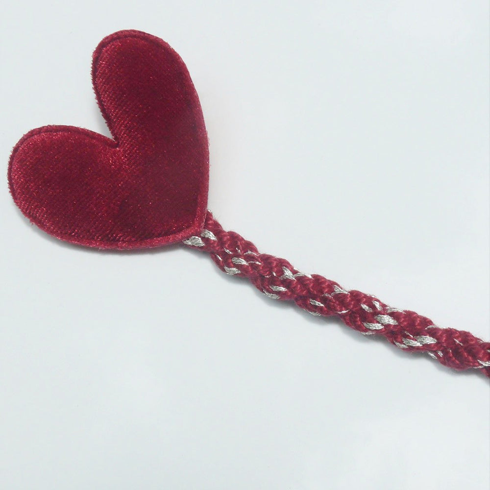 Sweetheart Pacifier Clip - Burgundy