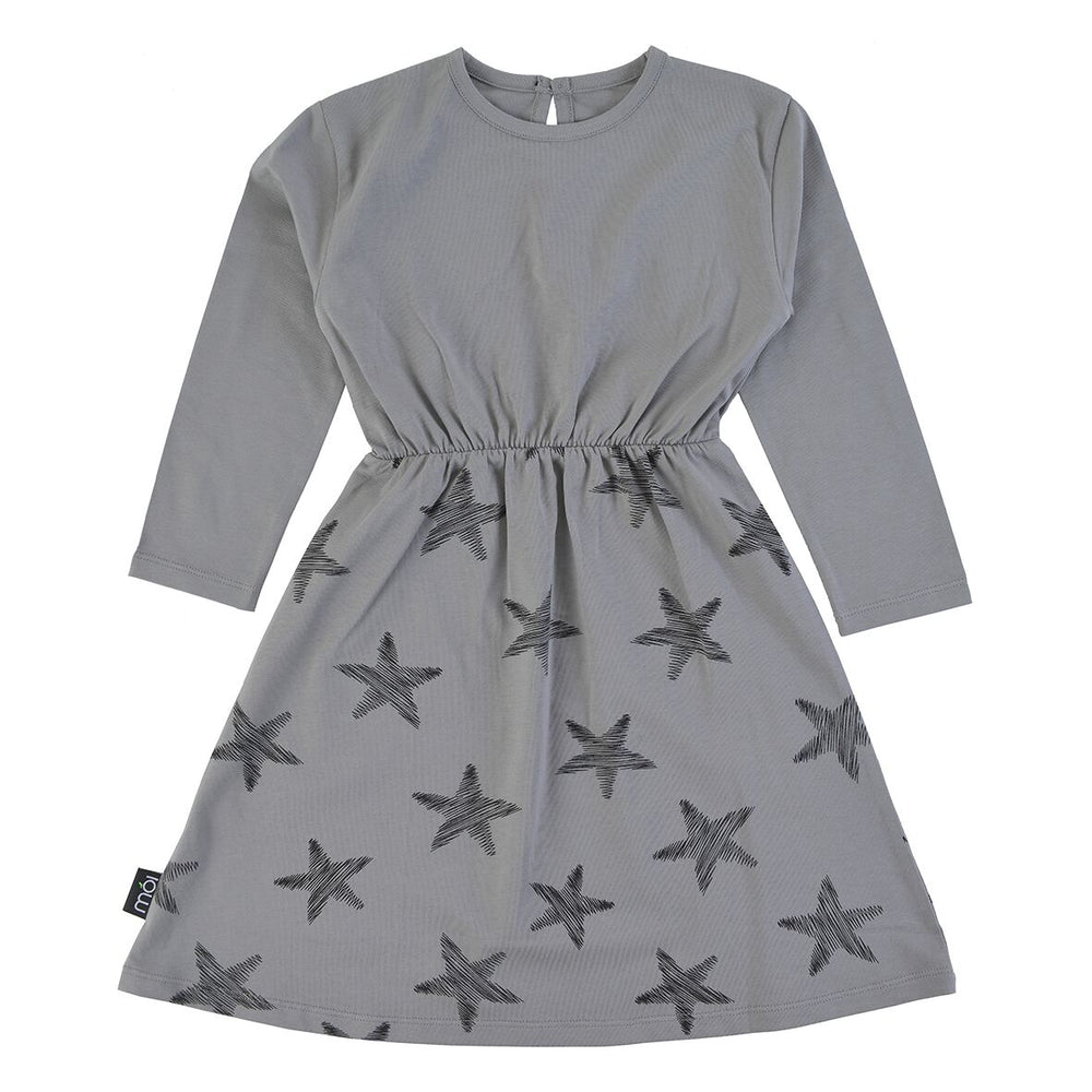 Moi Grey Starfish Dress