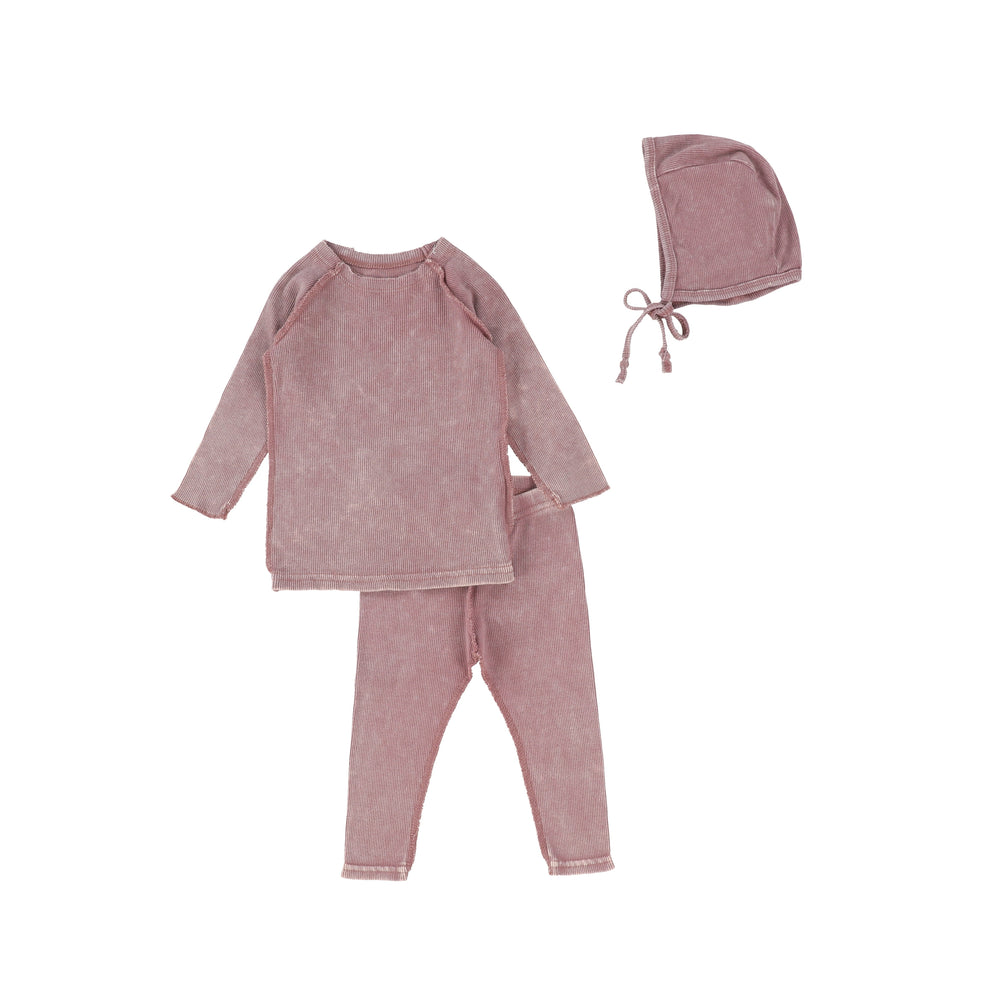 Lil Legs Ribbed Baby Set - Pink Wash
