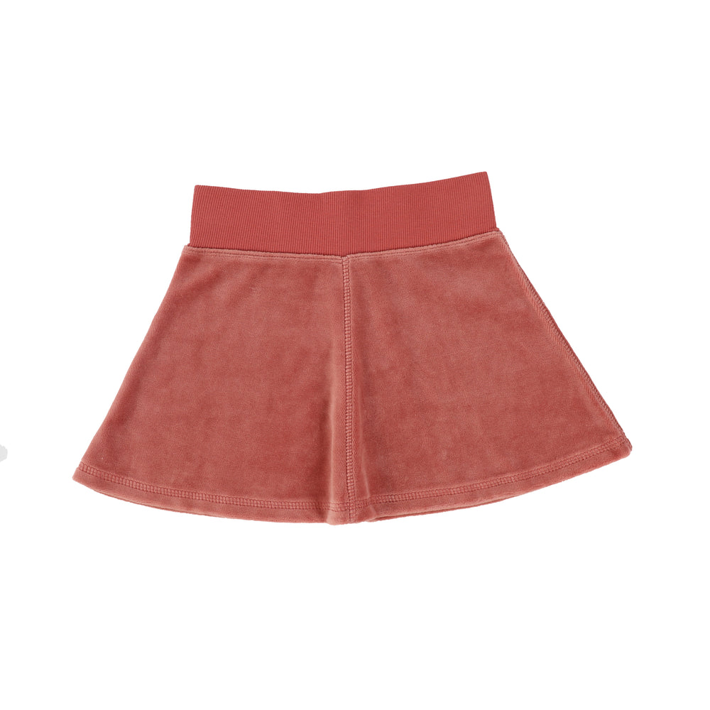 Analogie by Lil Legs Velour Skirt - Sunset Rose