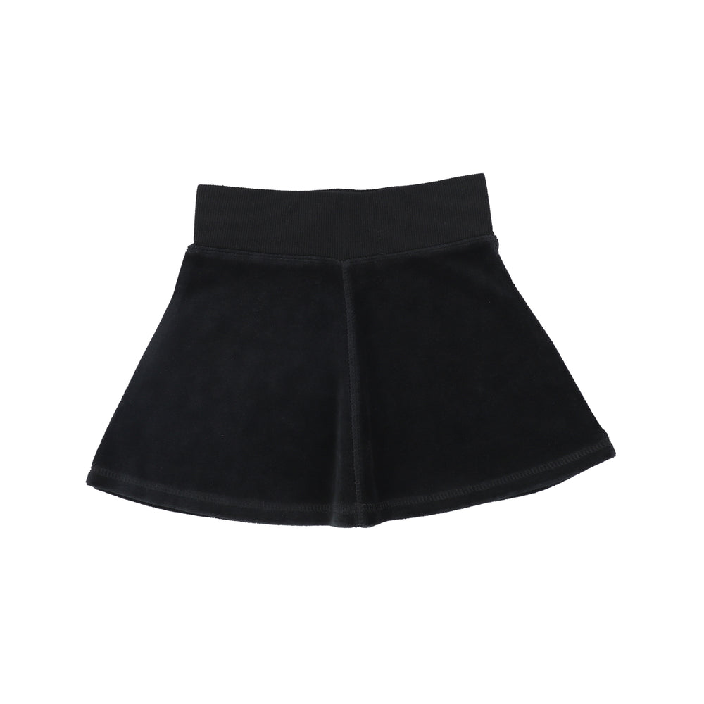 Analogie by Lil Legs Velour Skirt - Black
