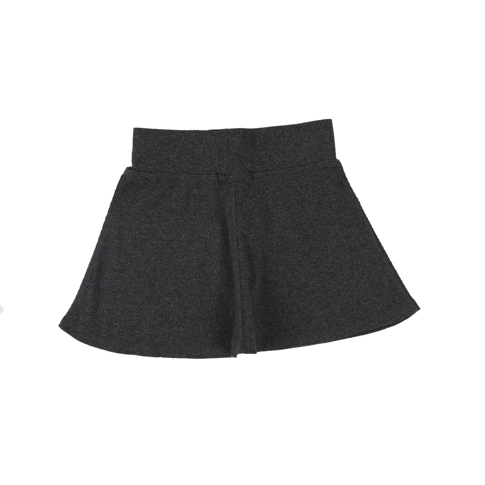 Lil Legs Ribbed Skirt - Dark Heather