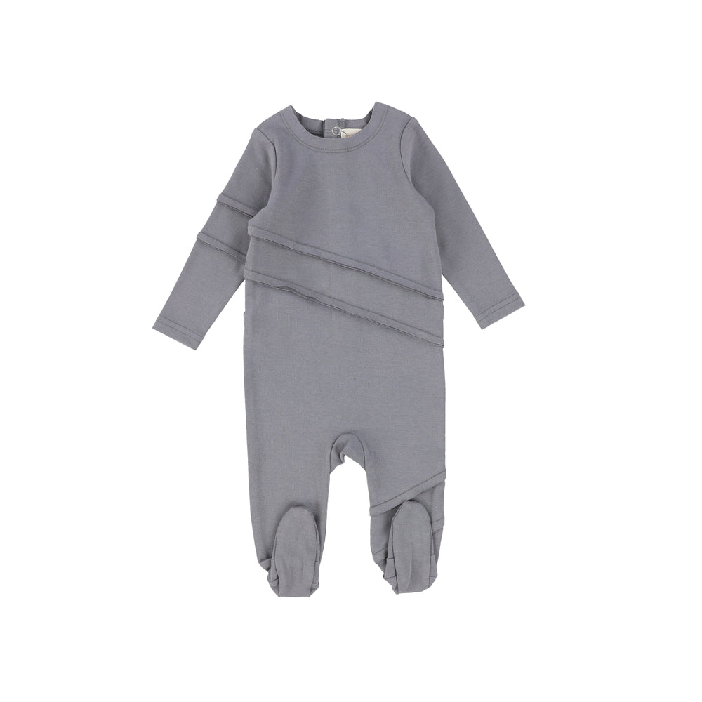 Lil Legs Cotton Footie - Soft Grey