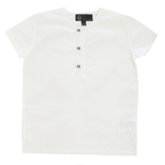 Little Cocoon Clear Button Shirt - White