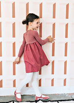 Analogie by Lil Legs Knit Dress - Salmon