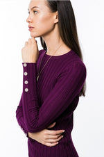 Ribbed Top - Plum