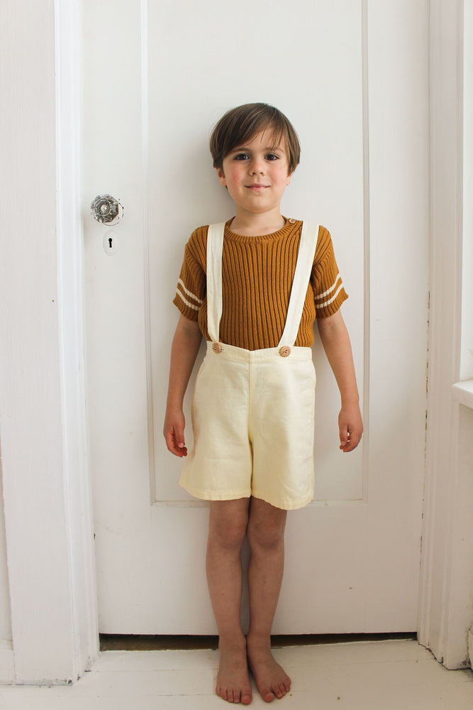 Fin & Vince Suspender Short - Natural