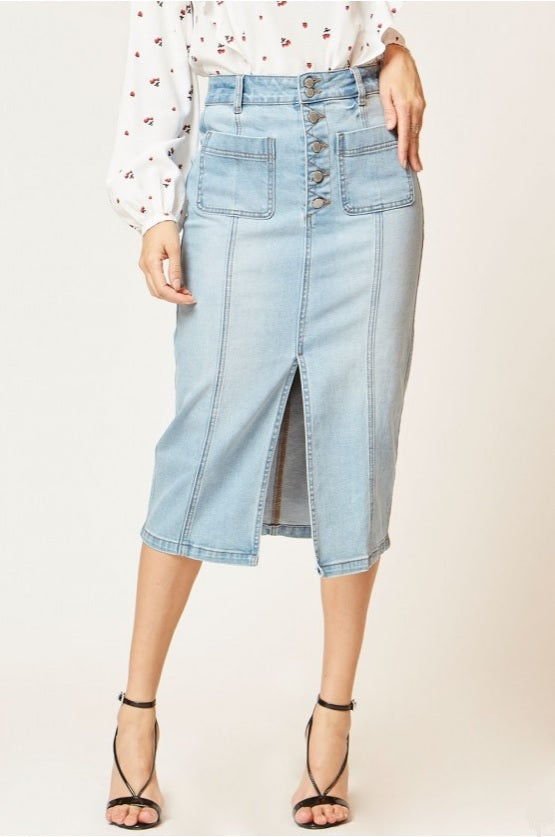 Slim Denim Skirt