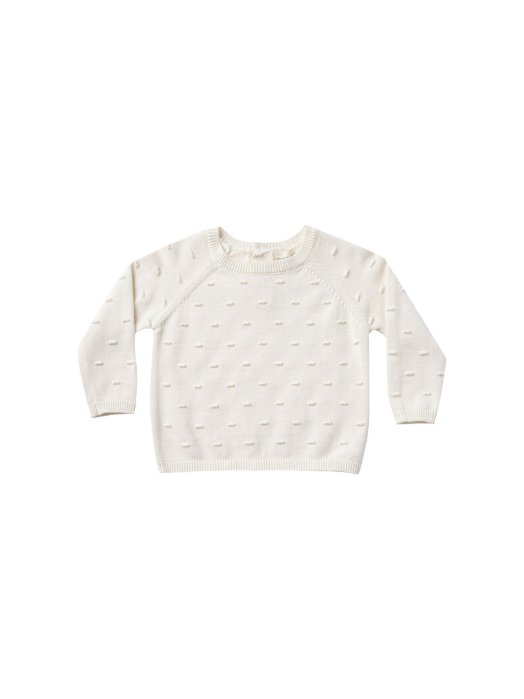 Quincy Mae Organic Knit Sweater - Ivory