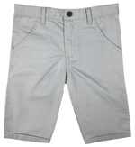 Kipp Polished Cotton Shorts - Grey