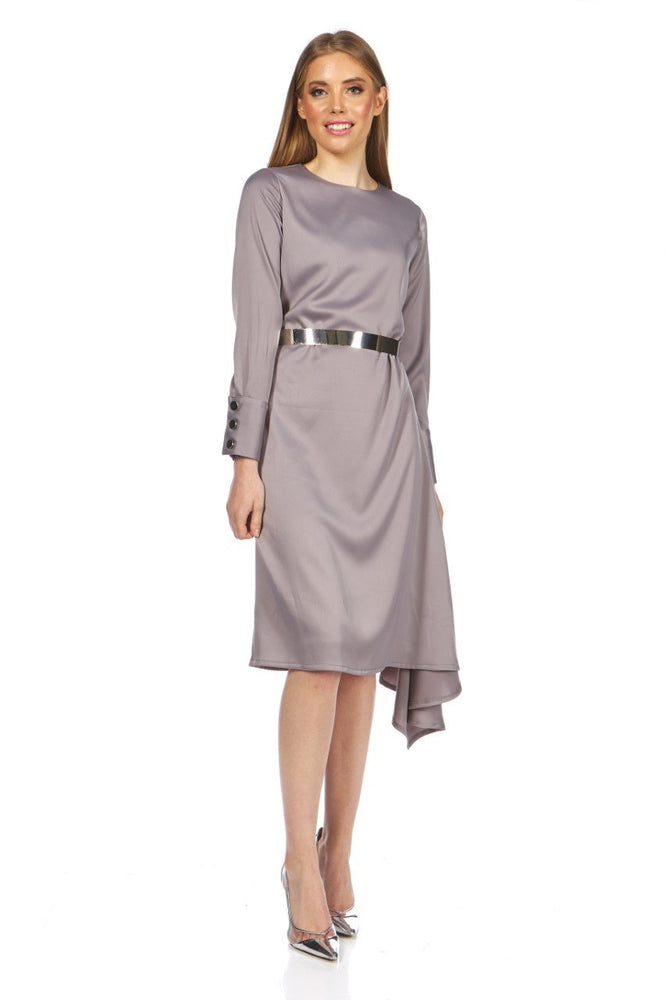 Eva Asymmetrical Silky Dress