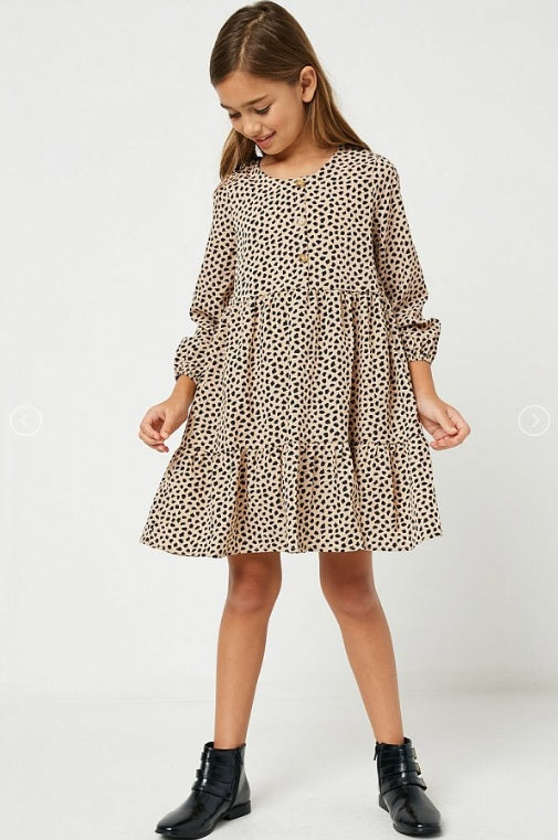 Tiered Button Dress