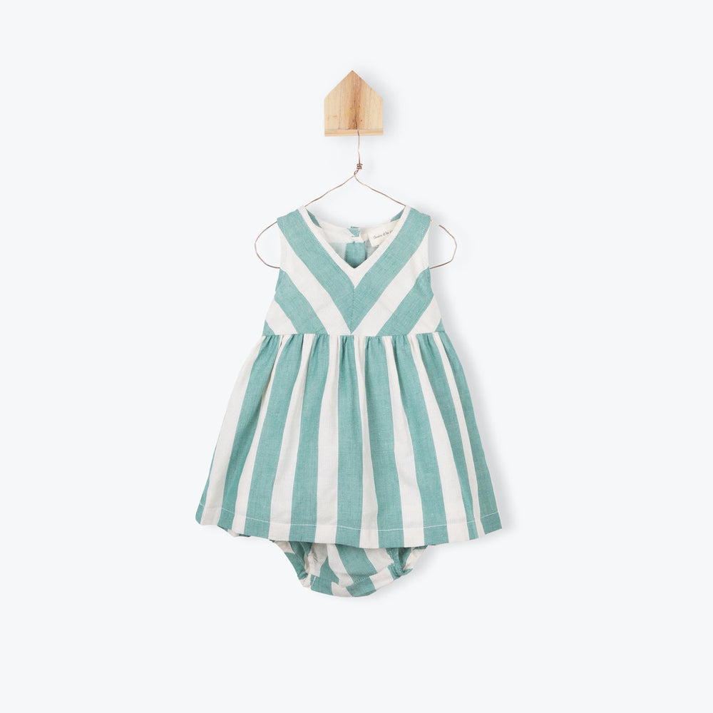 Arsene Striped Baby Dress