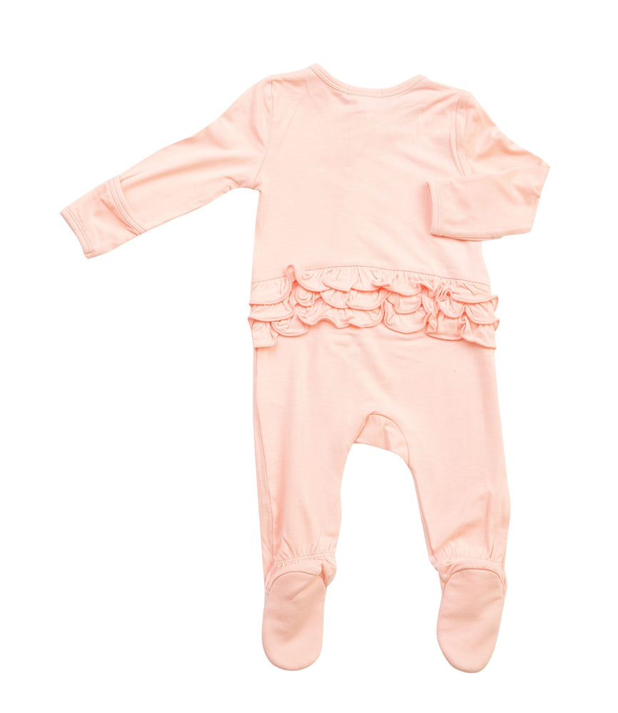 Angel Dear Pink Organic Bamboo Zipper Footie