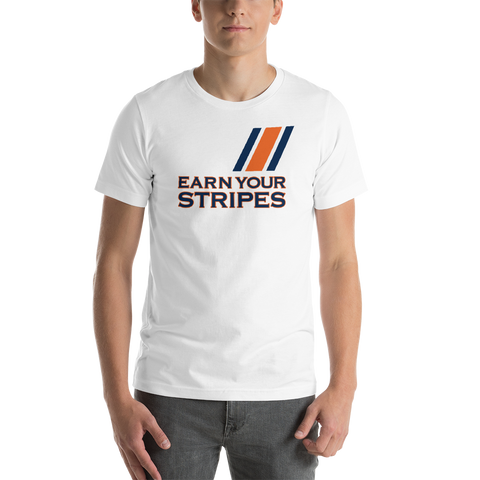 White Earn Your Stripes T-Shirt