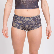 Load image into Gallery viewer, 64 Tetrahedron Mini Shorts - Slate Blue & Gold