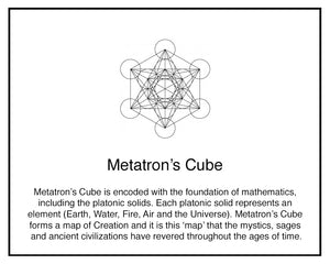 Metatron's Cube Yoga Pants, Blue & Gold