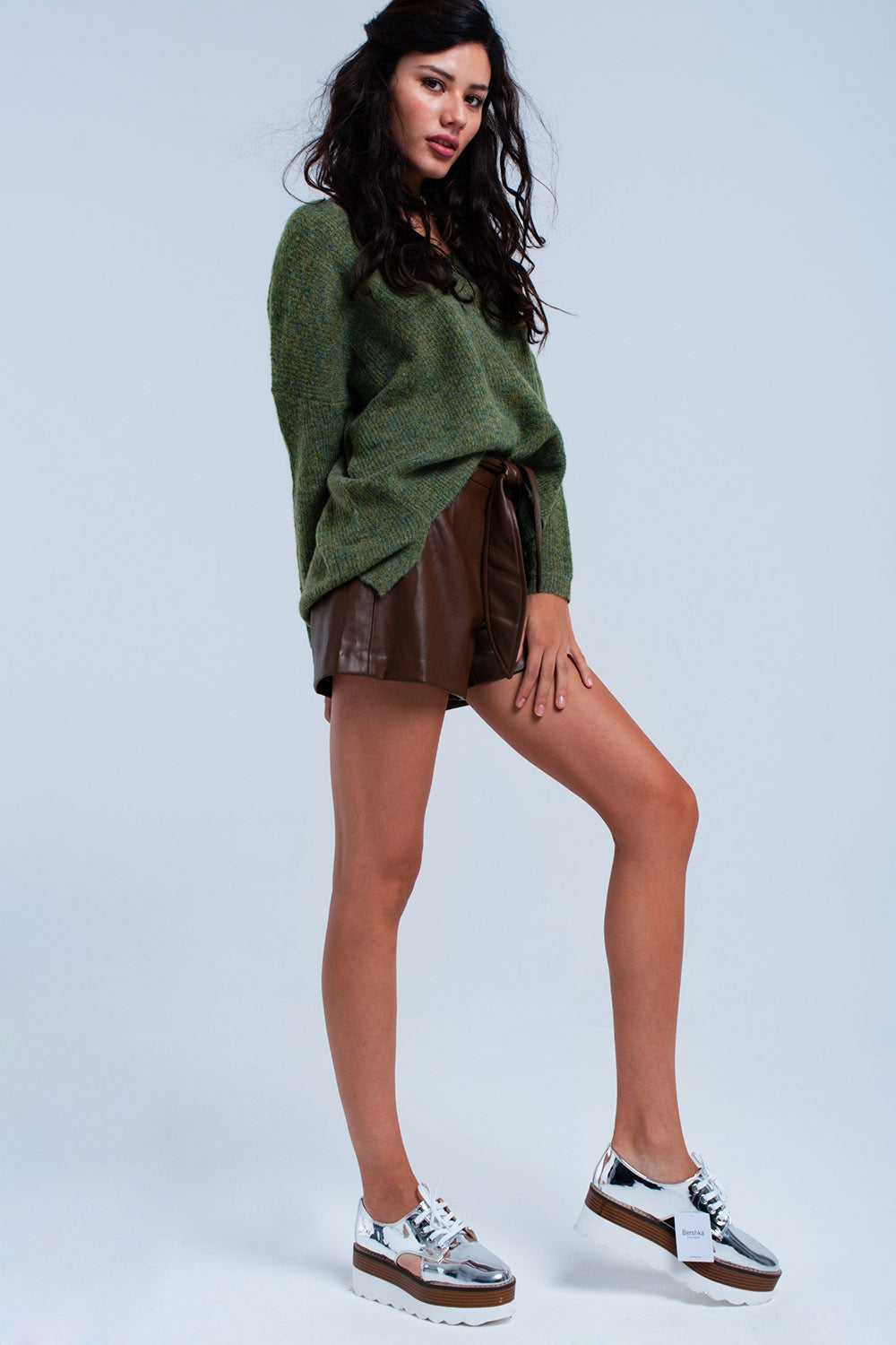 Oversized Green Sweater