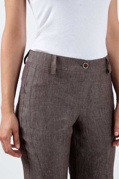 Long Straight Linen Pants
