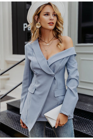 One Shoulder Women's Blazer