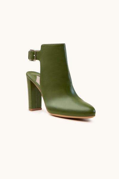 Anthea Olive Green Ankle Leather boot