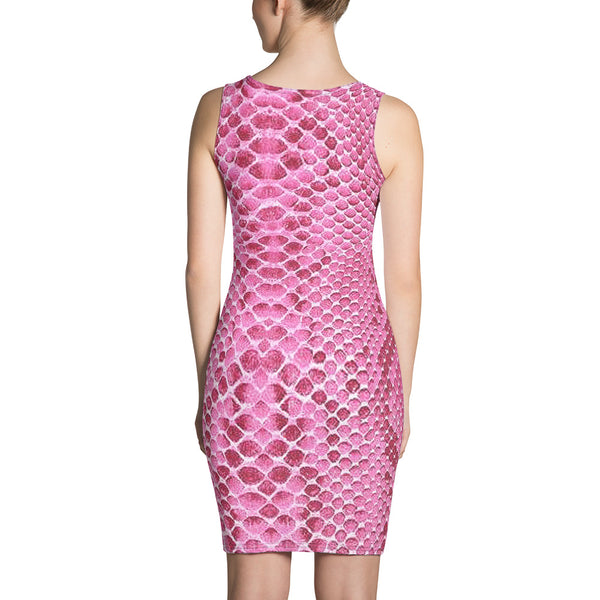 Pink Snake Dress - Hapyrel