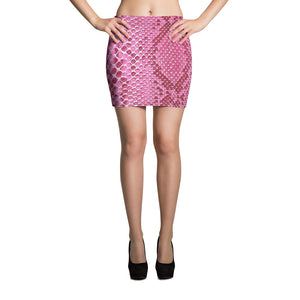 Pink Snake Mini Skirt - Hapyrel